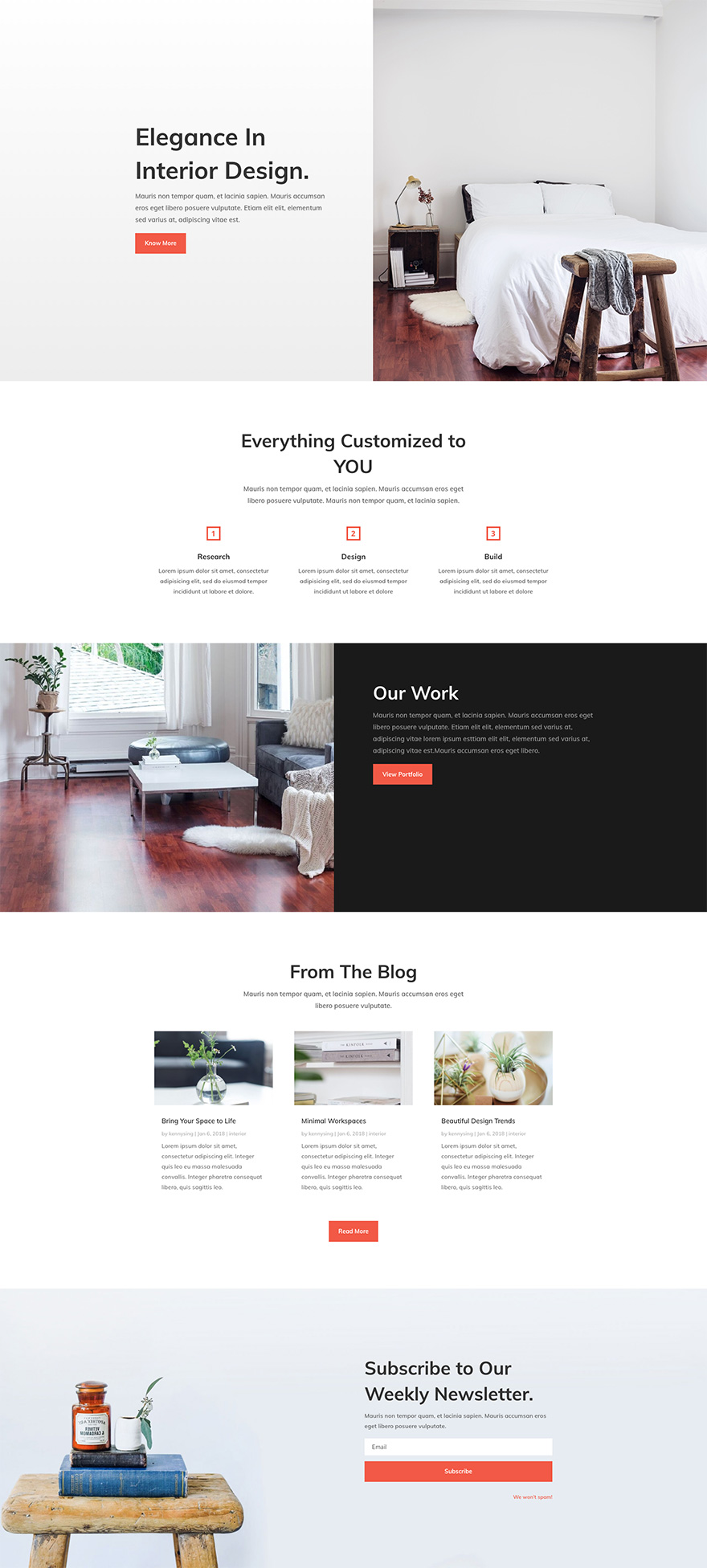 With The Interior Designer You Can Be Customize And Expand Your Website As  Needed With Your Brand Colors And Fonts And Images.