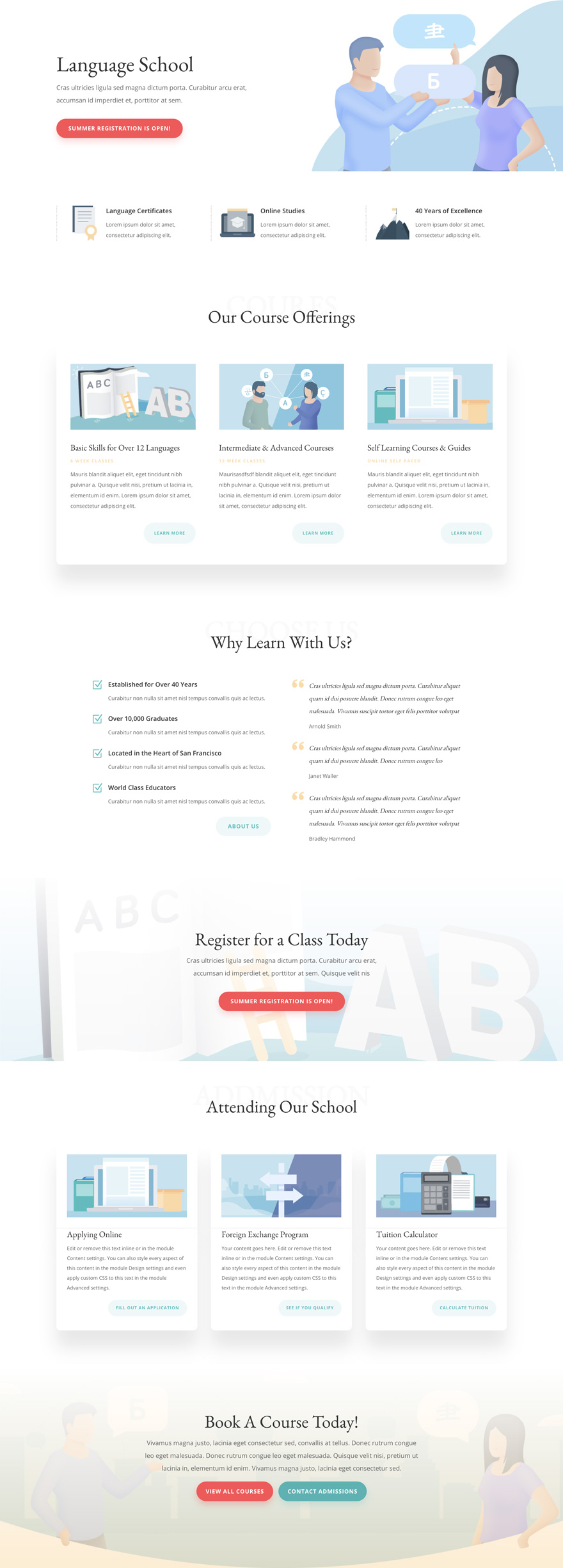Language School website design